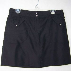 Izod Skort Size 6 Regular Black Active Wear Golf
